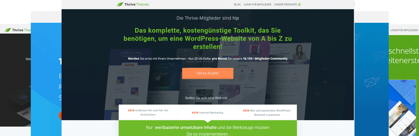 LP - ThriveThemes - Produkte deutsch 1