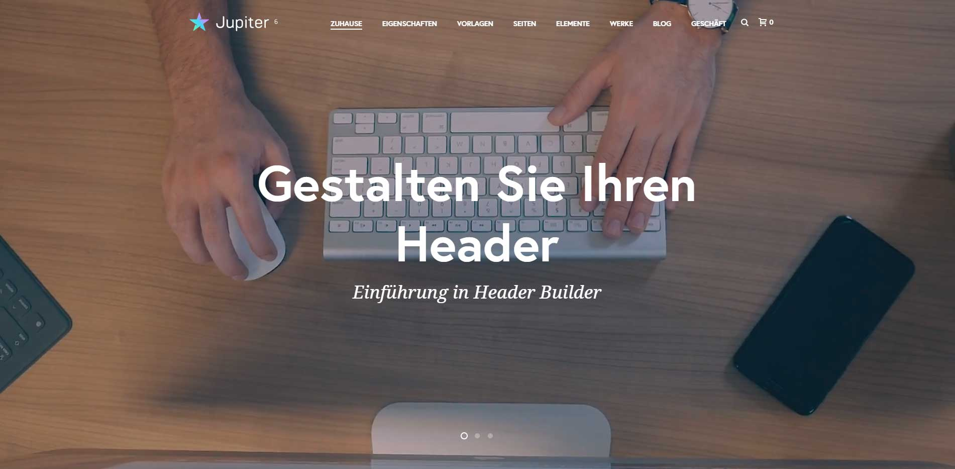 wp-theme jupiterx in deutsch