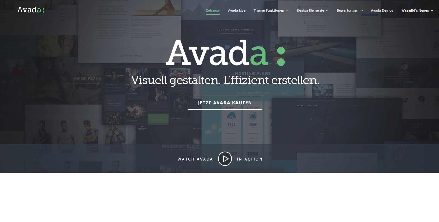AVADA Theme in deutscher Sprache
