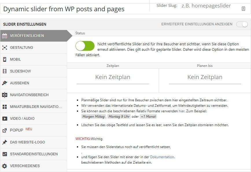 WP Plugin Layer Slider in deutsch 1