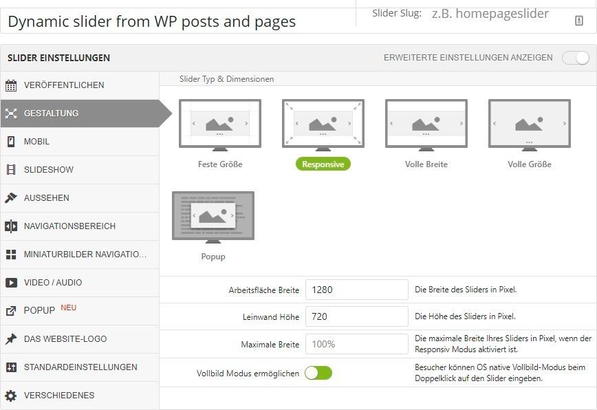 WP Plugin Layer Slider in deutsch 2